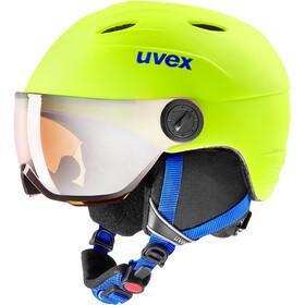 UVEX Junior Visor Pro Helm Kinderen, geel/blauw